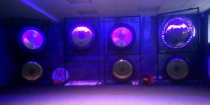 turtlelodgehealing.co.uk image: violet gongs at the Turtle Lodge Festival